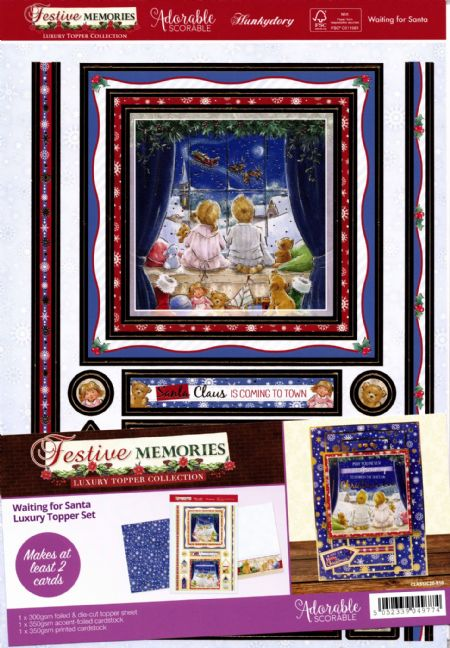 Waiting For Santa - Festive Memories Luxury Topper Set By Hunkydory